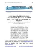 Comparación de funciones ejecutivas en muestra de niños con y sin TDAH de la Ciudad de México