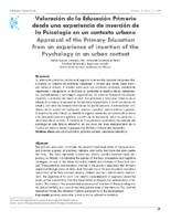 Valoración de la educación primaria desde una experiencia de inserción de la psicología en un contexto urbano