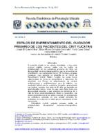 Estilos de enfrentamiento del cuidador primario de los pacientes del crit yucatán